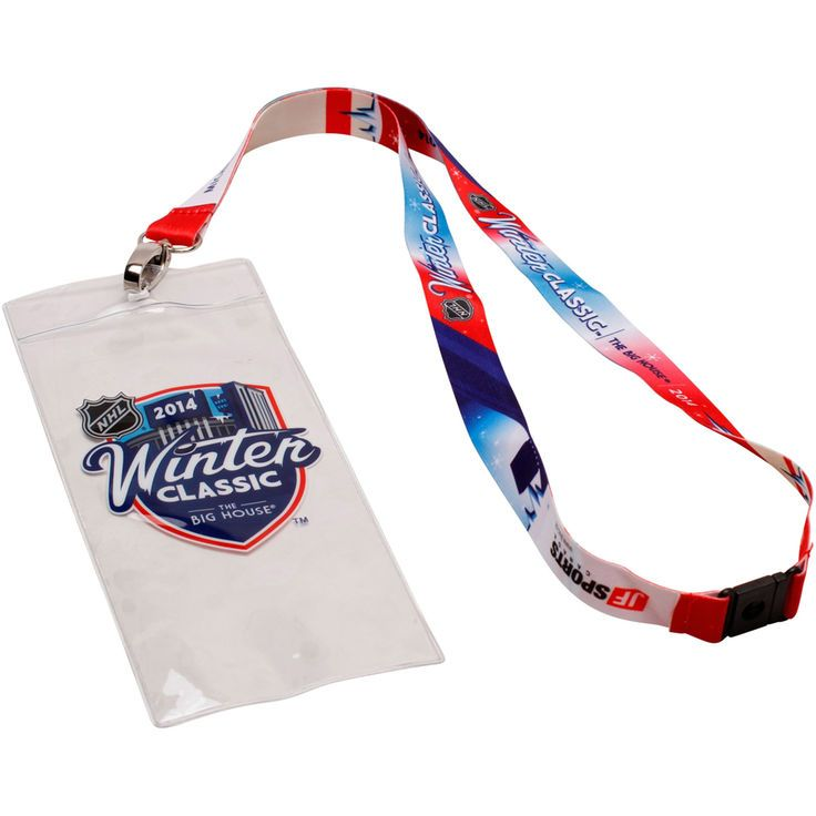 Detroit Red Wings 2014 Winter Classic Sublimated Ticket Holder Lanyard - $4.99