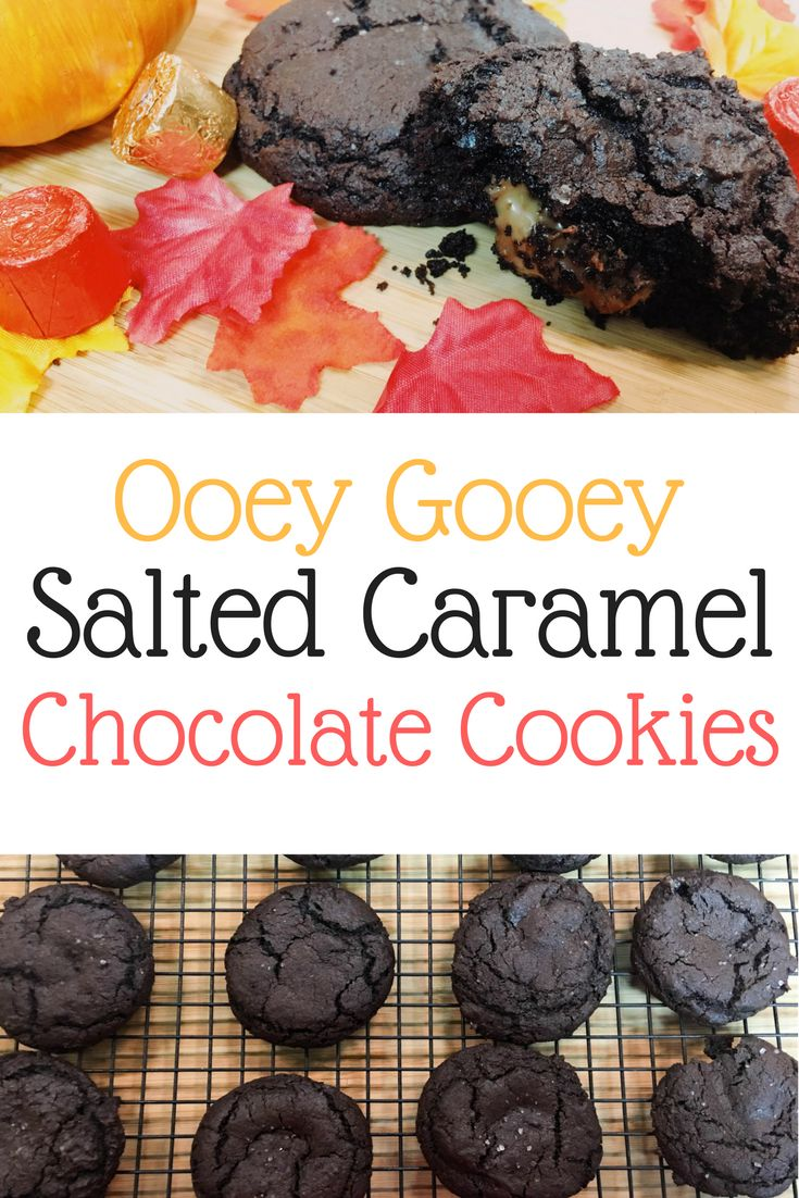 These salted caramel cookies are the absolute perfect addition to your fall baking adventures!