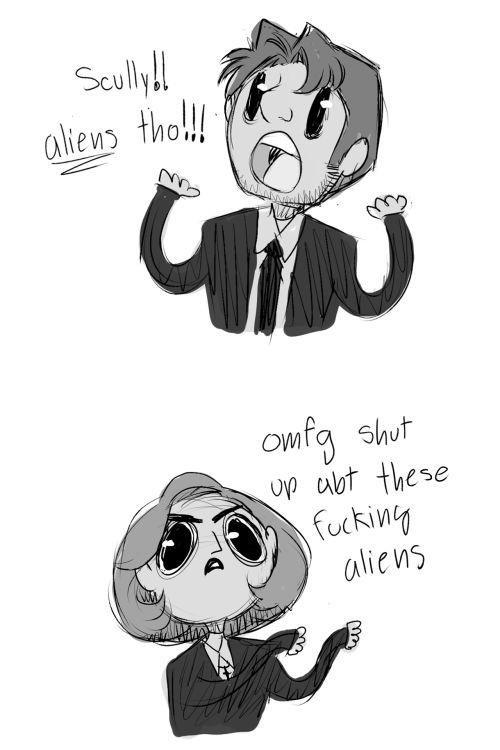 • art otp cartoon Fanart comic Sketch doodle txf artists on tumblr The X Files…