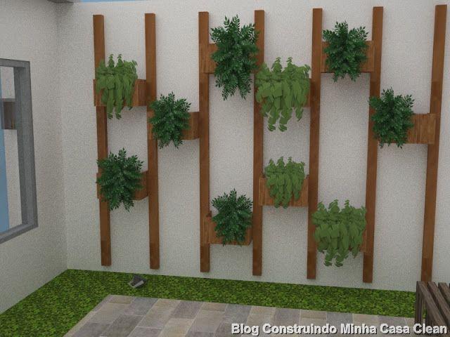 Projeto da minha fachada com muros e port es e lindas - Plantas trepadoras para muros ...