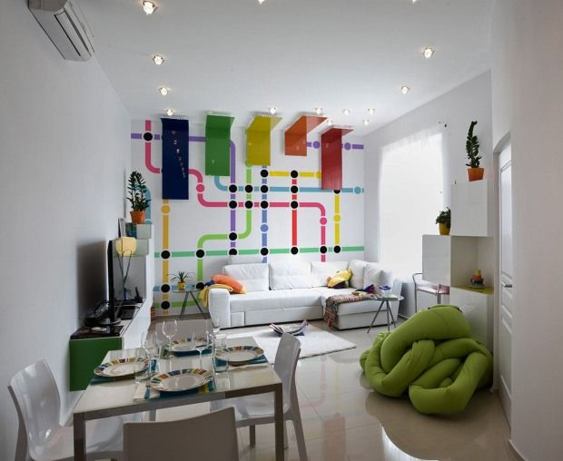 London Tube - Simple Colorfoul Lines for Wall Decorations in Modern Interiors   InspireFirst