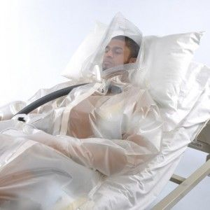Protective suit could prevent the spread of Ebola  by creating an isolated environment for patients