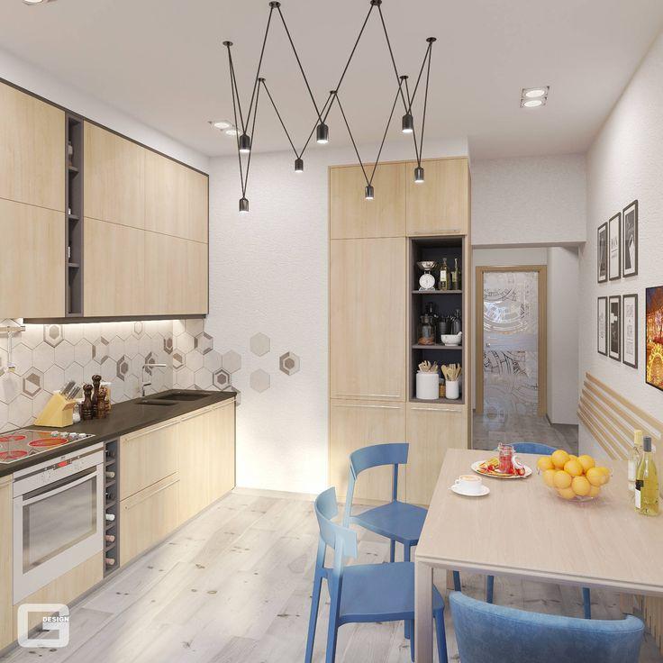 Квартира для молодого парня в скандинавском стиле : Кухня в скандинавском стиле от Giovani Design Studio