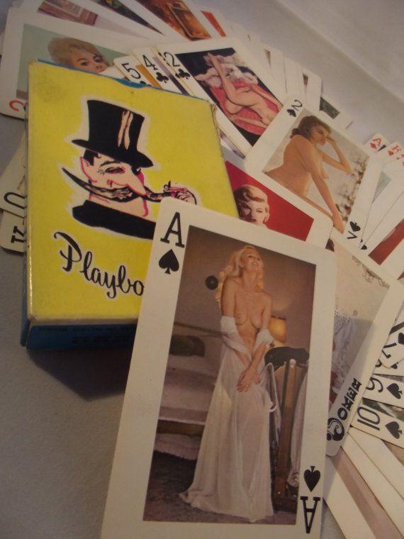vintage pin-up jaren 60 speelkaarten Playboy  door ProfessorVintage
