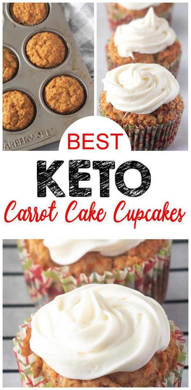 FÁCIL cupcakes keto! Los mejores cupcakes de pastel de zanahoria keto con glaseado de queso crema que …