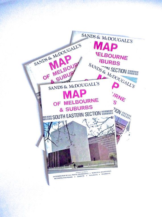 Sands and McDougall's Map of Melbourne and Suburbs