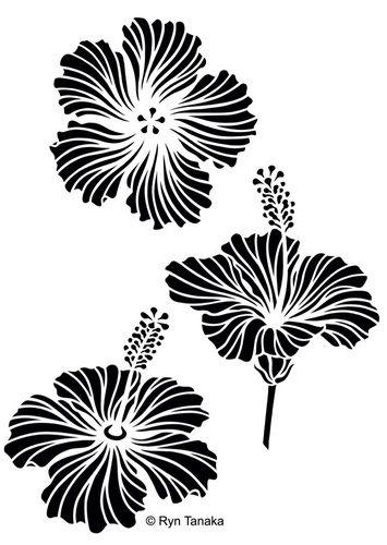 Hibiscus - Stencil