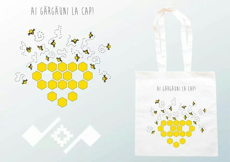 Romanian inspiration design; printed cotton bag;   https://m.facebook.com/beeboo814?_rdr#!/design.cu.origini.populare