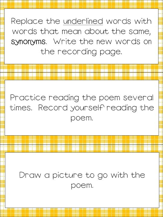 Free Poetry Task Cards and Poems                                                                                                                                                                                 More