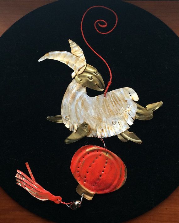 New design for 2015  Year of the Ram (or goat, or sheep) pendant A native Churro Sheep confidently leaps into 2015! Hang it in your home or office