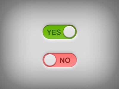 Yes - No Switch PSD Freebie