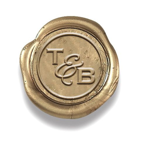 Clic Gold L And Stick Wax Seal Sticker With Copperplate Wedding Duogram Initials