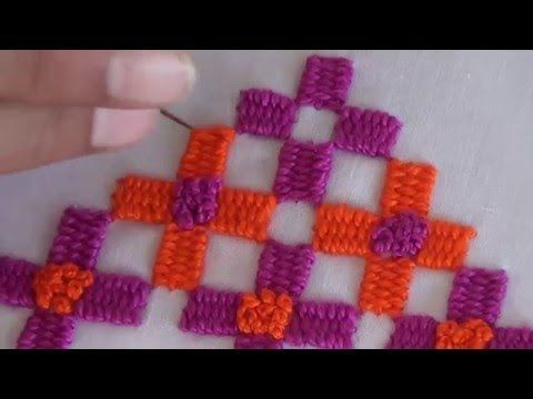 Hand Embroidery: Border stitch - YouTube