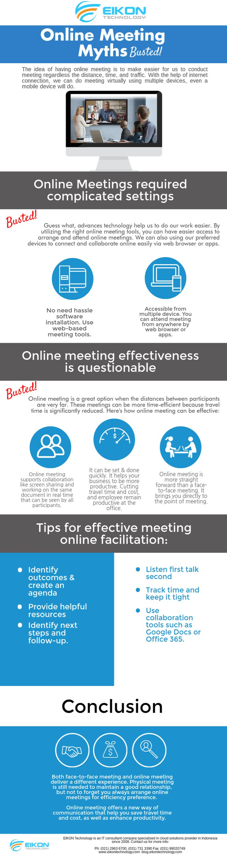 Face-to-face meeting is good, but you also need to know what you can benefit from an #onlinemeeting #eikontechnology
