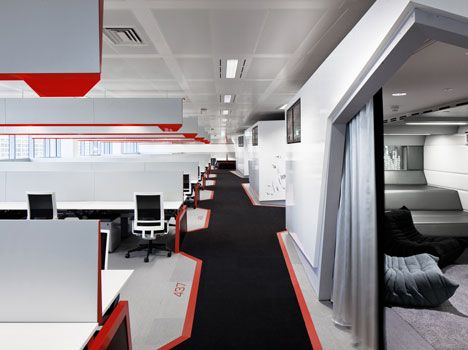 google office cubicles. google engineering hq by penson office cubicles