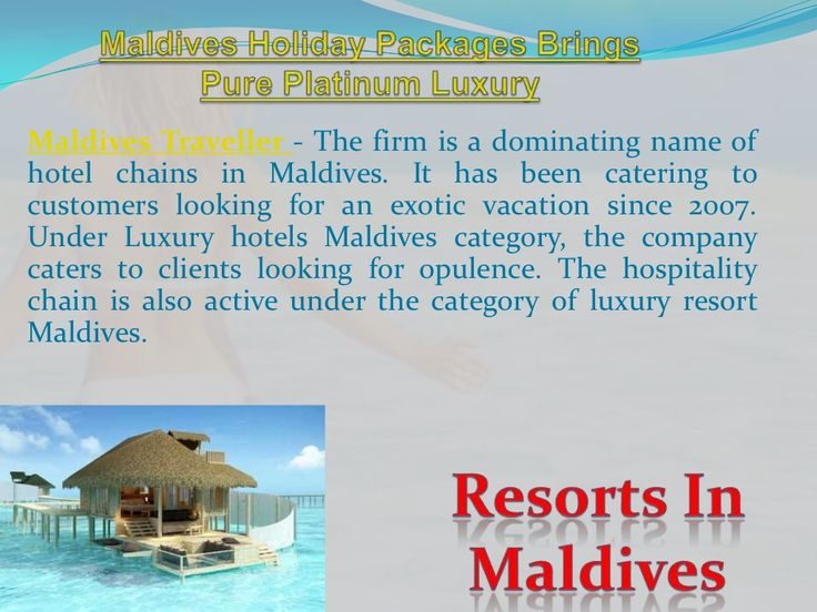 maldives-holiday-packages-brings-pure-platinum-luxury by Maldives Traveller via Slideshare
