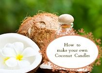 how to use coconut oil to make scented candles.