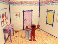 Re-Create The Scribbly Crayon Drawn Room Interior From Elmo's World