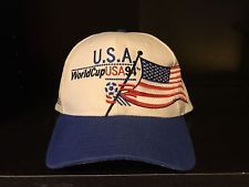 Vintage 1994 FIFA World Cup Soccer USA National Team Flag OSFA Apex One Cap Hat