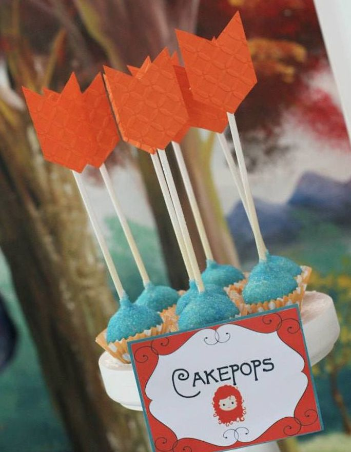 Brave Arrow Cakepops Found on Kara's Party Ideas