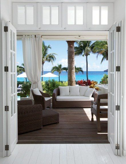 The ELA villa on St. Barts, recommended by designer Muriel Brandolini How inviting...Wish I were there