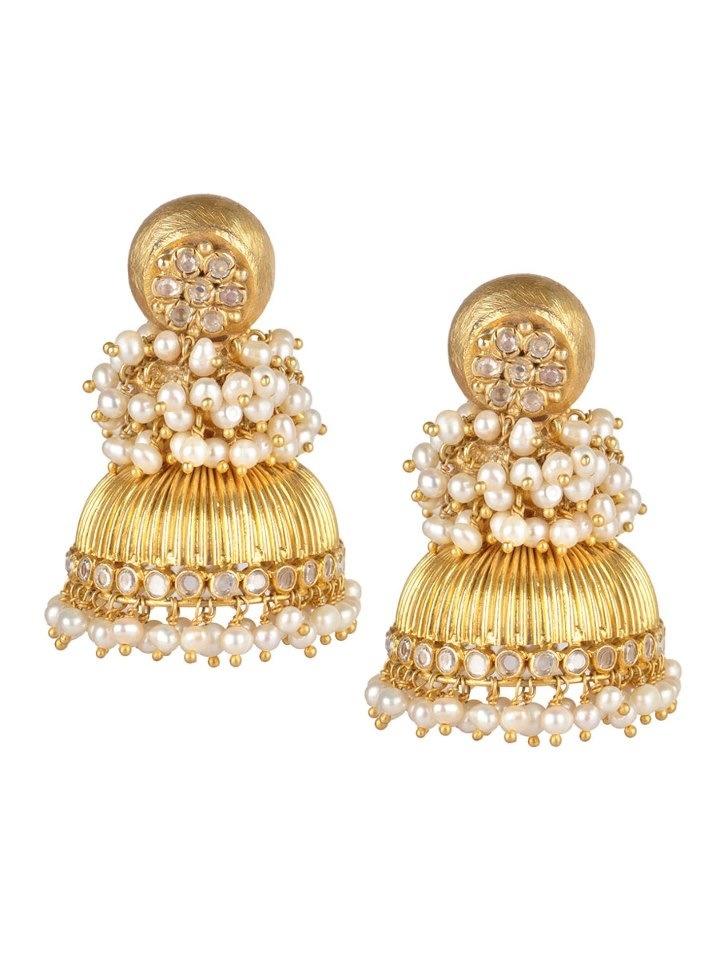 Indian Pearl Earrings #jhumki #jhumka