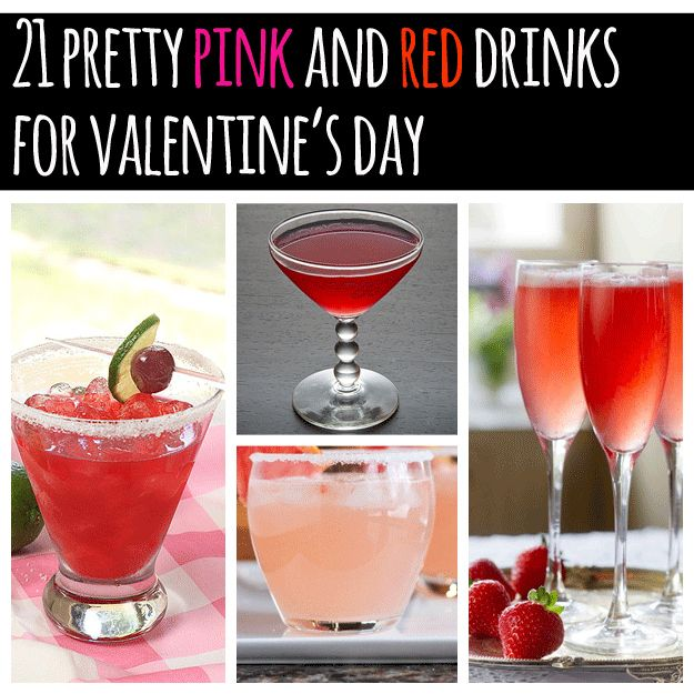 21 Pretty Pink And Red Drinks For Valentine's Day
