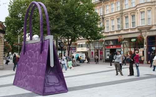 Giant Purple Purse