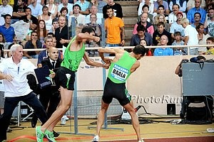 A fight between Mahiedine Mekhissi-Benabbad and Mehdi Baala breaks out after the Men's 1,500 in the 2011 Monaco Diamond League meet