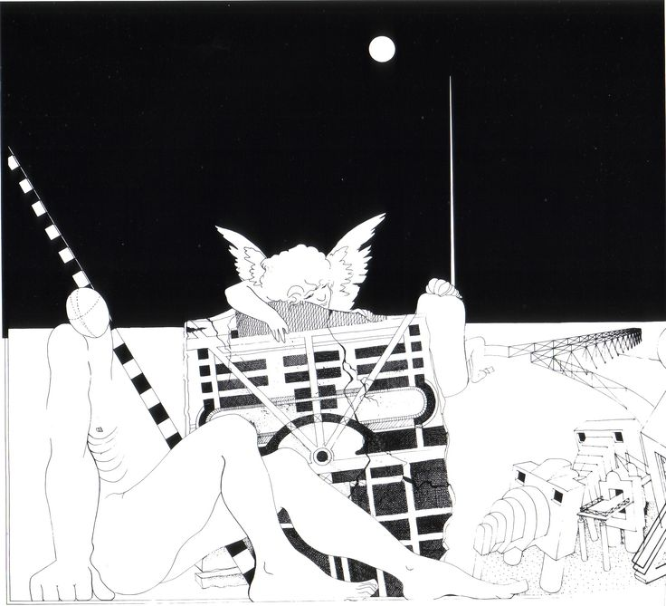1980_81 _ PESCARA 6_carta da lucido cm.A0 by Brunetto De Batté & Giovanna Santinolli