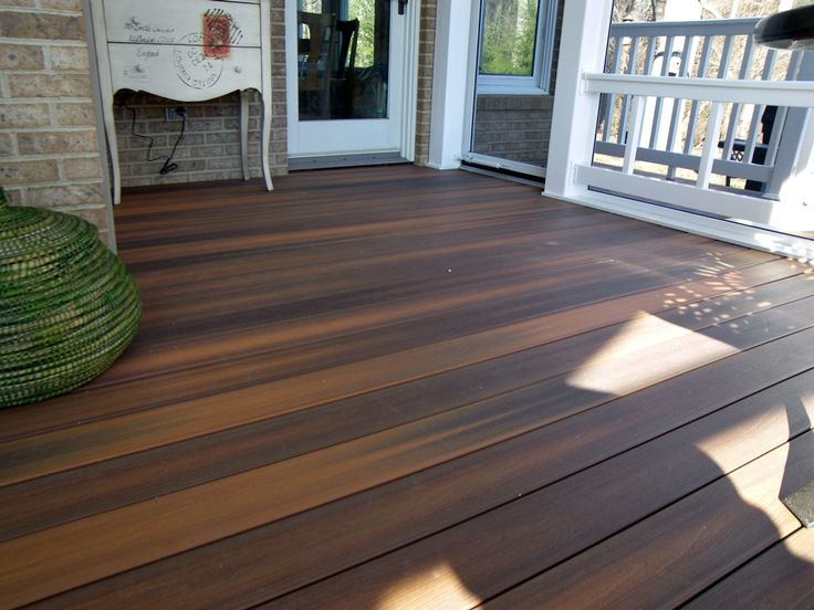 Screen porch with fiberon decking ipe composite deck for Vinyl flooring outside porch