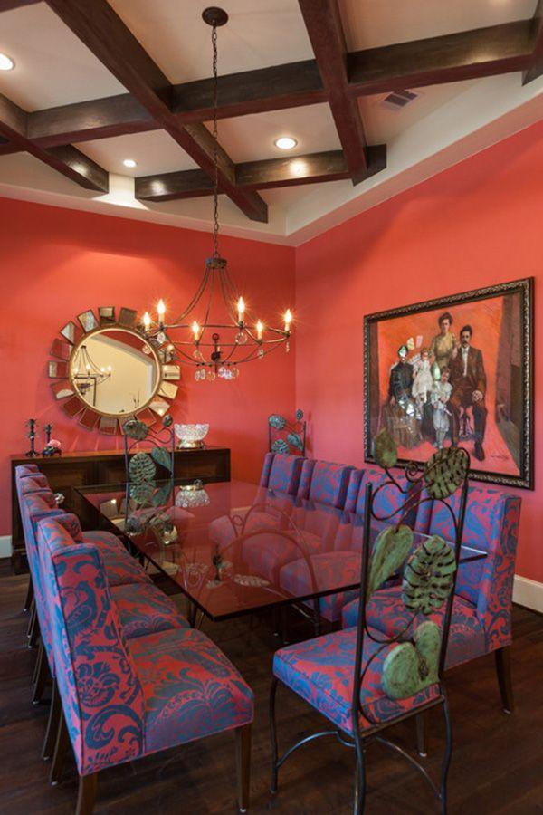 Color Coral En Paredes 30 Ideas Para Pintar La Casa Con Color