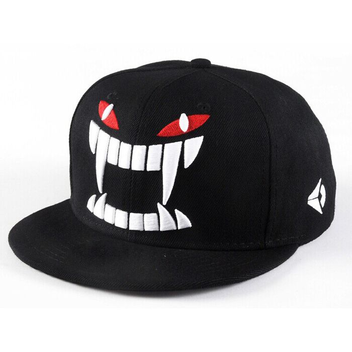Fashion summer  baseball caps Hip-hop sun cap personality tooth design women's hats embroidery snapback