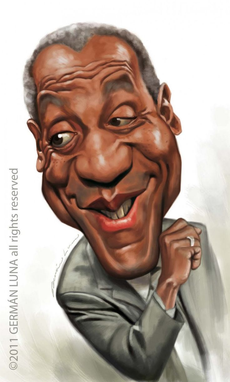 Caricatura de Bill Cosby. Find local  photography lessons at [EducatorHub.com]