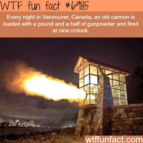 Vancouver's 9 O'Clock Gun- WTF fun fact http://riflescopescenter.com/category/barska-riflescope-reviews/