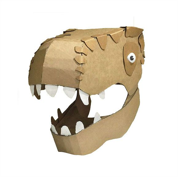 Diy Cardboard Dinosaur Head Diy Cardboard Costume Templates Zygote Brown Designs Cardboard Costume Dinosaur Head Diy Cardboard