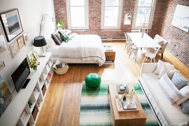 En un estudio se puede tener un bonito hogar   Decoración