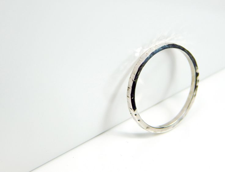 Handmade FACETED Sterling Silver Ring