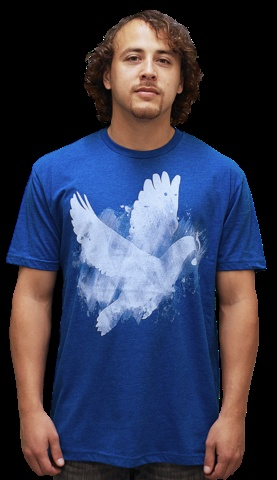 Bring me Peace T-shirt by tobiasfonseca from Design By Humans. Bring Me Peace T Shirt is a fashionable design choice for the 50 most wanted collection. This is the collection of the best shirt designs from the Shirts of the Day. A bird T-shirt made up of beautiful paint strokes on bright royal blue.
