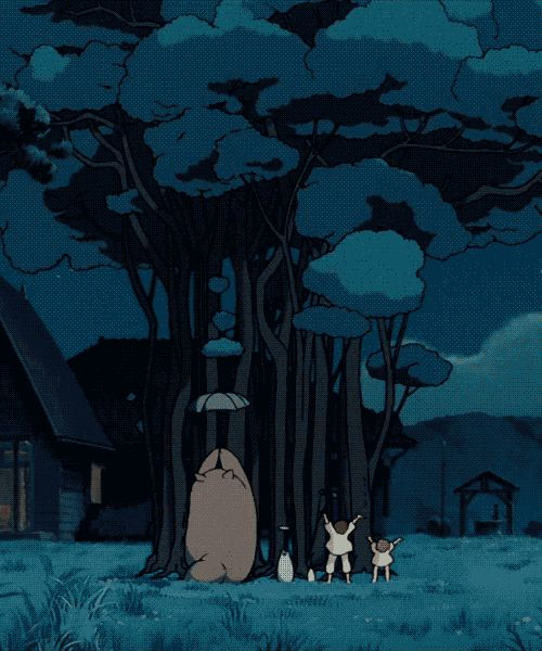 """Probably my most favorite movie scene of all time. """"My Neighbor Totoro."""