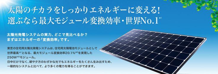 太陽のチカラをしっかりエネルギーに変える!選ぶなら最大モジュール変換効率・世界NO.1
