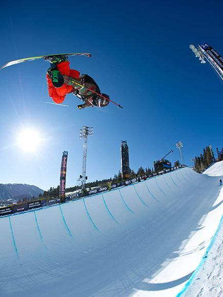 Ski Superpipe, 2012 Winter X Games, Aspen, Colorado