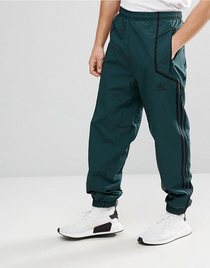 adidas Originals Chicago Pack Taped Wind Jogger In Green - Gree
