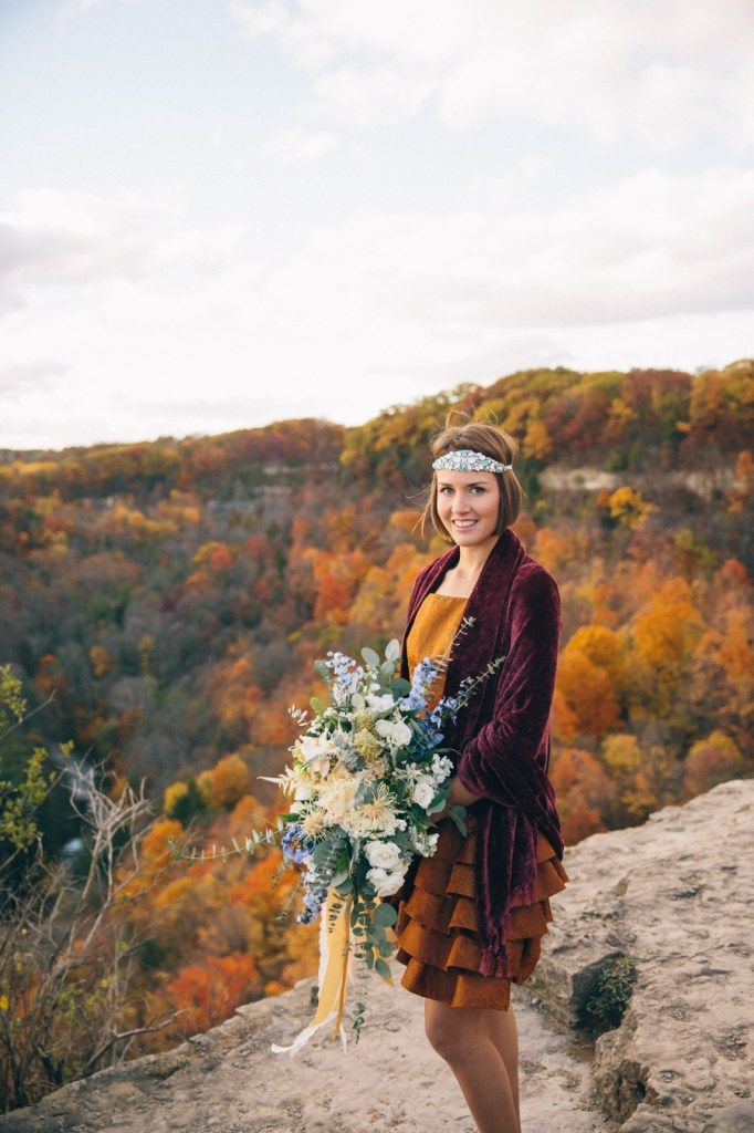 """A stunning alternative to a City Hall wedding. Toronto wedding photographer, Shelly Spithoff, describes this style shoot and the inspiration behind it. """"This autumn styled elopement was creat…"""