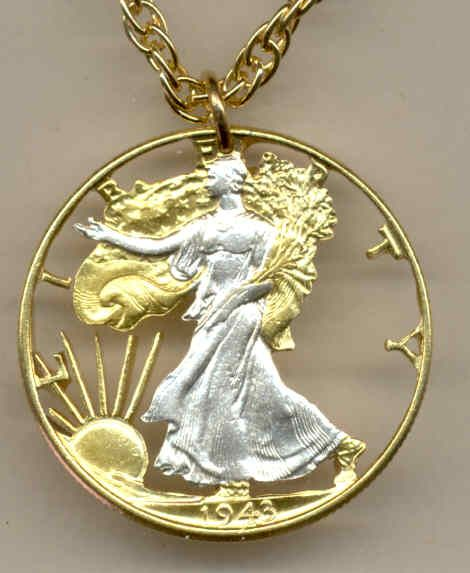 21 best gold silver cut coin jewelry images on pinterest for Dollar jewelry and more