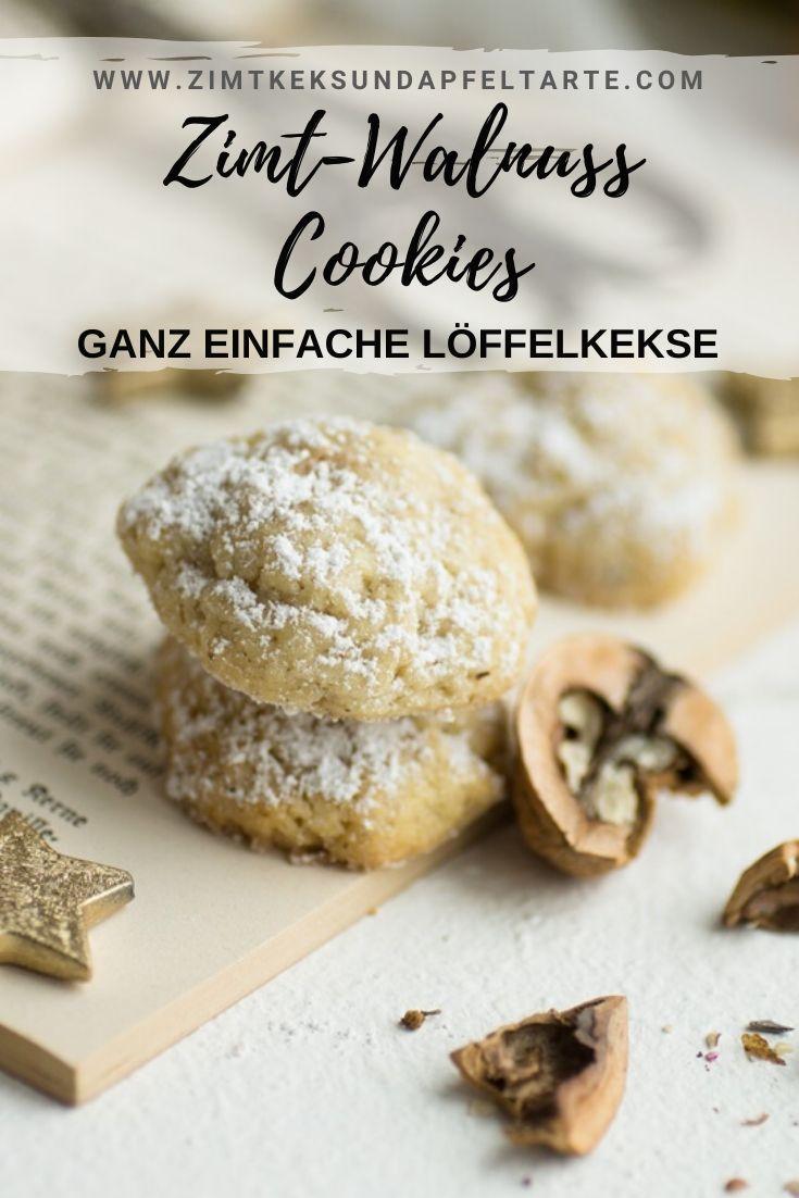 Zimt- und Walnussplätzchen   – ZIMTKEKS & APFELTARTE – köstliche Rezepte, die gelingen