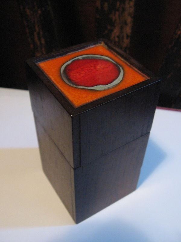 Rosewood & enamel box by Alfred Klitgaard of Denmark