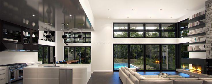 Evolution Architecture,kitchen/living room modern,interior design E-765