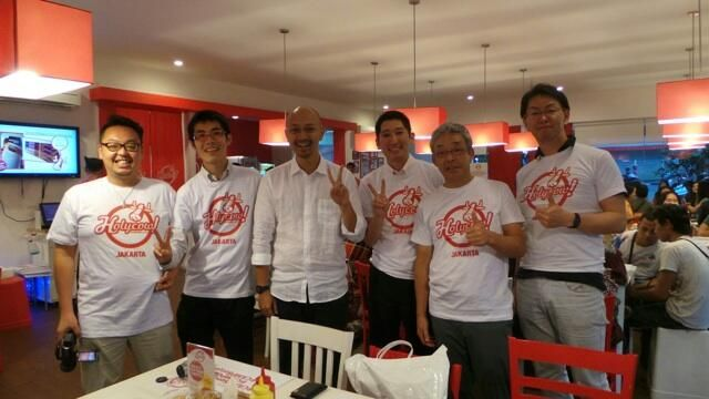 @Holycow! Steakhouse by Chef Afit's Japanese customers wear the Holycow Tee. Cool!