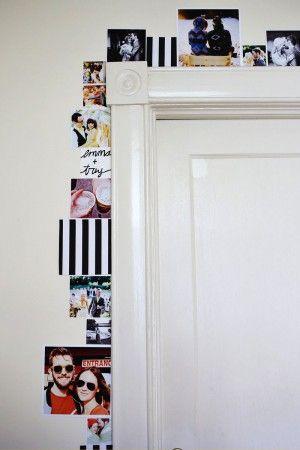 Klasse Idee um Fotos mal anders aufzuhängen. Noch mehr Ideen für originelle Fotowände gibrt es auf www.Spaaz.de